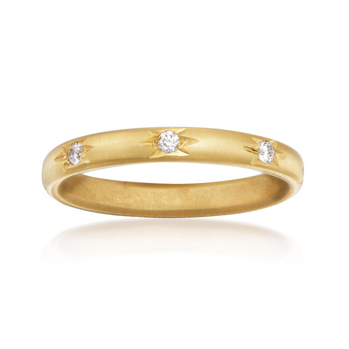 Mazza .16 ct. t.w. Diamond Eternity Band in 14kt Yellow Gold. Size 6.5