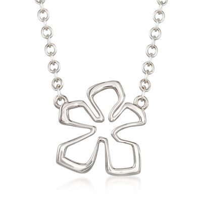"Zina Sterling Siler Medium ""Tiki"" Flower Necklace, , default"