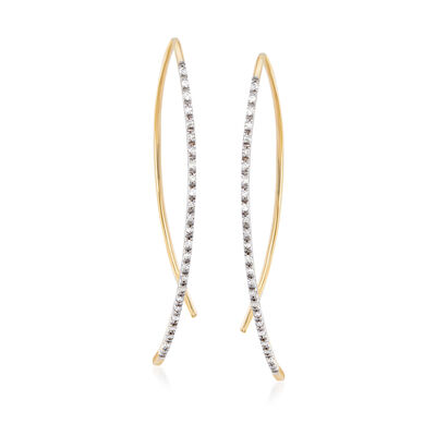 .15 ct. t.w. Diamond Linear Threader Earrings in 14kt Yellow Gold, , default