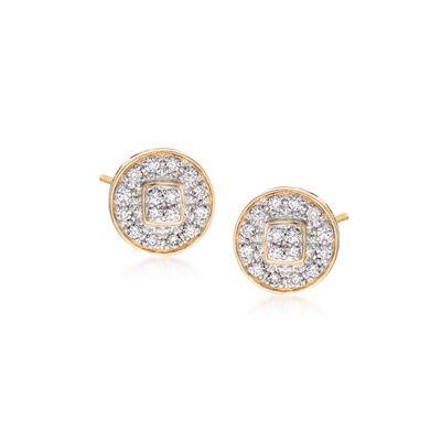 "ALOR ""Classique"" .27 ct. t.w. Diamond Stud Earrings in 18kt Yellow Gold, , default"