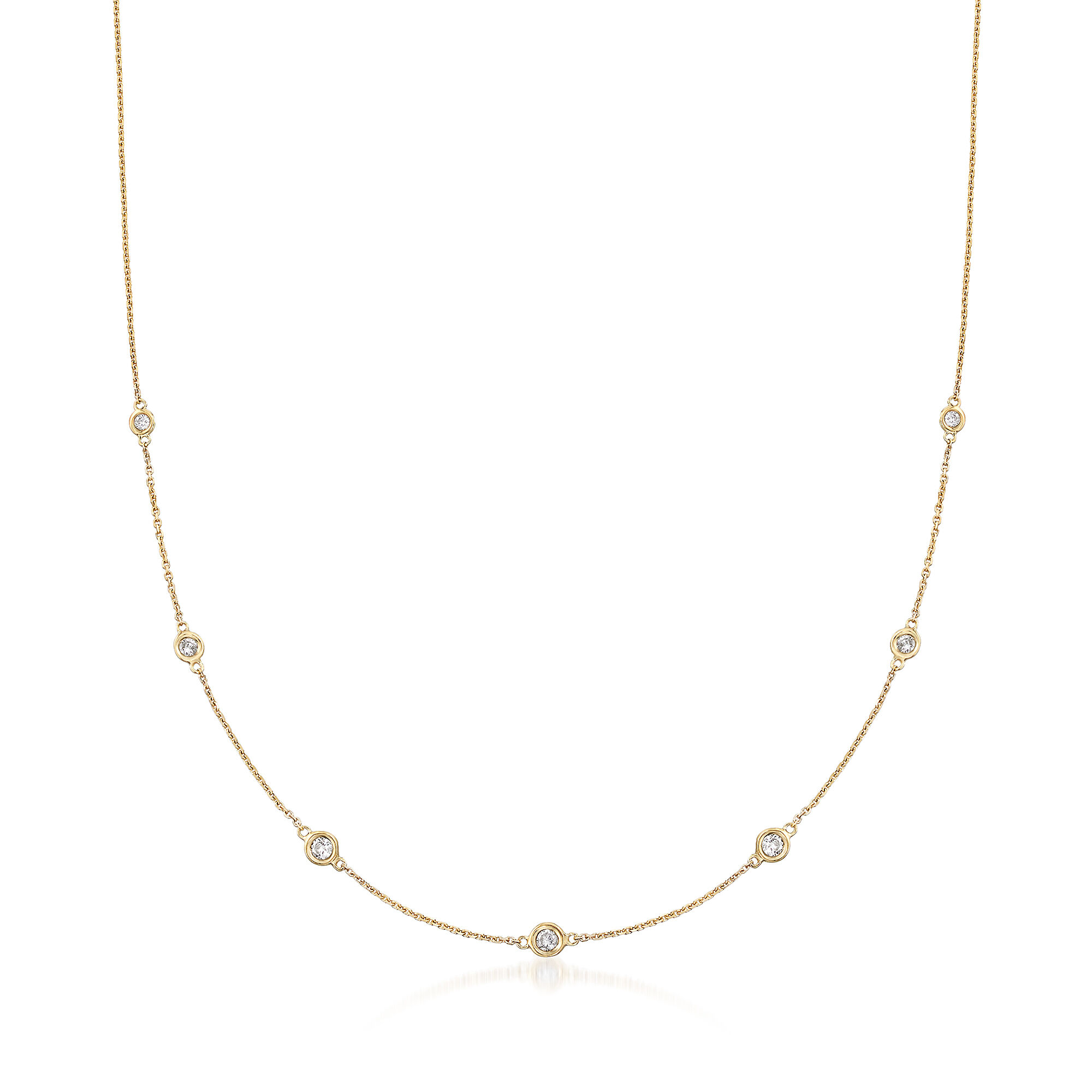 simons ross yellow gold necklace bead station default
