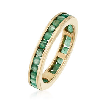 1.10 ct. t.w. Emerald Eternity Band in 14kt Yellow Gold, , default