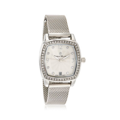 Giorgio Milano Women's .25 ct. t.w. CZ Watch in Stainless Steel , , default