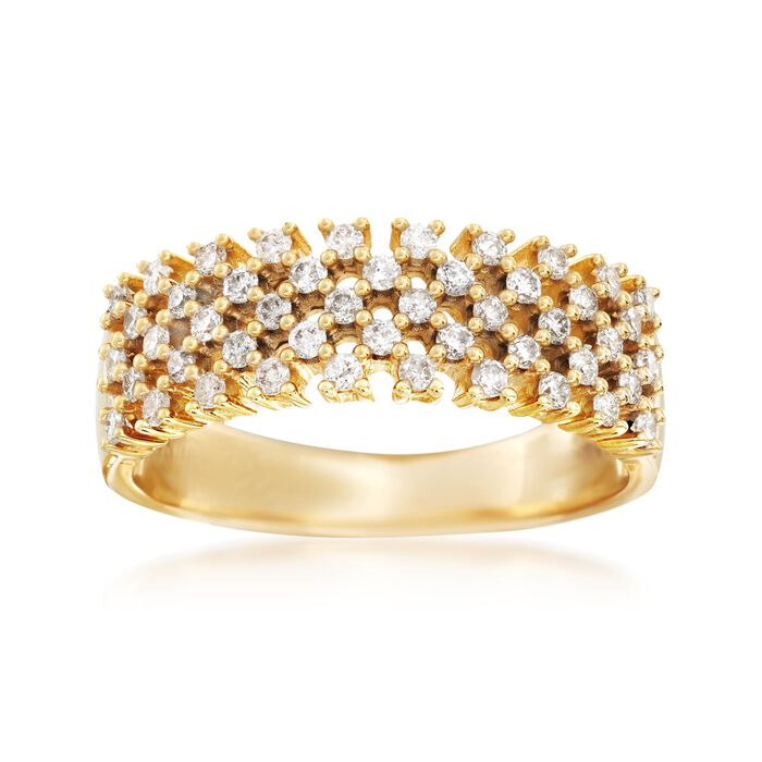 .50 ct. t.w. Diamond Open Checkerboard Ring in 14kt Yellow Gold