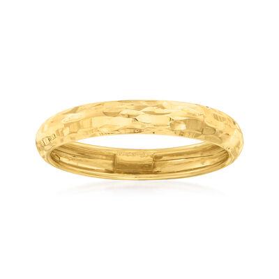 Italian 14kt Yellow Gold Diamond-Cut Ring