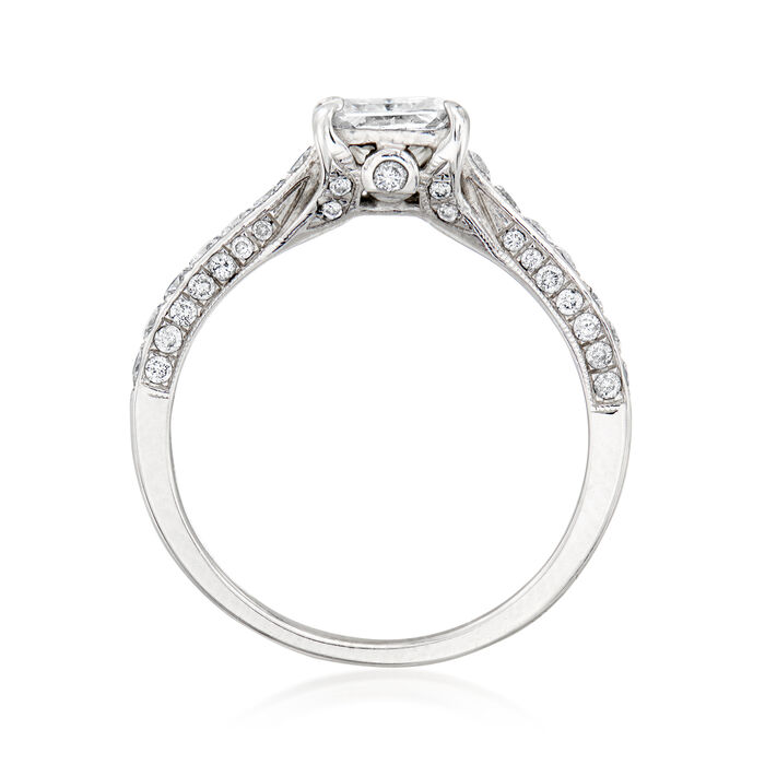 C. 2000 Vintage Certified 1.48 ct. t.w. Diamond Engagement Ring in 14kt White Gold