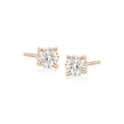 .33 ct. t.w. Diamond Stud Earrings in 14kt Yellow Gold, , default
