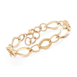 14kt Yellow Gold Multi-Link Bracelet, , default