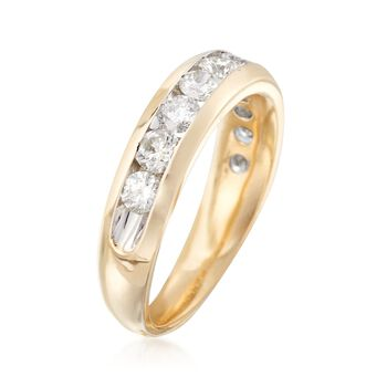 1.00 ct. t.w. Diamond Wedding Ring in 14kt Yellow Gold, , default