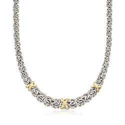Two-Tone Graduated Byzantine Necklace, , default