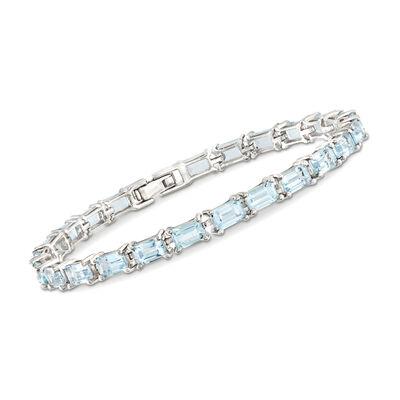 15.00 ct. t.w. Sky Blue Topaz Tennis Bracelet in Sterling Silver