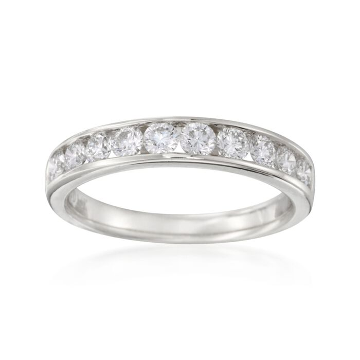 1.00 ct. t.w. Channel-Set Diamond Ring in 14kt White Gold