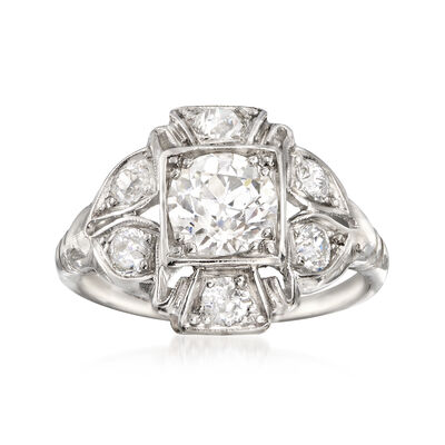 C. 1980 Vintage 1.50 ct. t.w. Diamond Ring in Platinum, , default