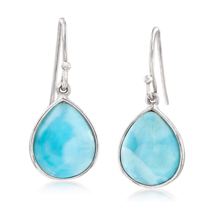 Larimar Drop Earrings in Sterling Silver, , default