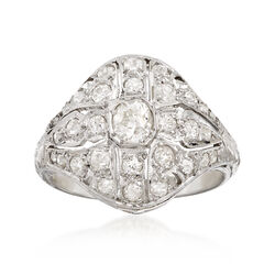 C. 1920 Vintage 4.20 ct. t.w. Diamond Ring in 18kt White Gold, , default