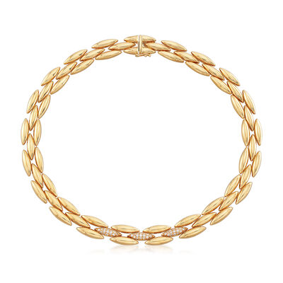 C. 1989 Vintage Cartier .75 ct. t.w. Diamond Collar Necklace in 18kt Yellow Gold