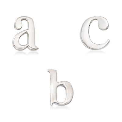 Sterling Silver Lowercase Initial Pendant