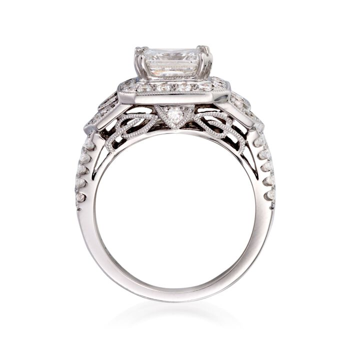 2.97 ct. t.w. Certified Diamond Engagement Ring in 14kt White Gold