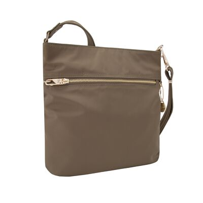 "Travelon ""Anti-Theft Tailored"" Sable Nylon Twill North/South Slim Bag, , default"