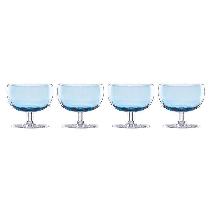"Lenox ""Valencia"" Set of 4 Blue Cocktail Glasses, , default"