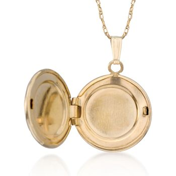 "Child's 14kt Yellow Gold Floral Locket Necklace. 15"", , default"