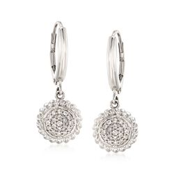 .26 ct. t.w. Pave Diamond Circle Earrings in Sterling Silver, , default