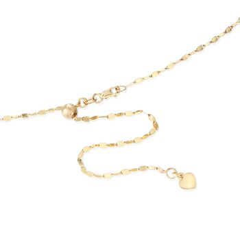 Italian 1.5mm 14kt Yellow Gold Adjustable Slider Lumachina Chain Necklace. 22""