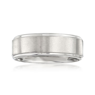 Men's 8mm Cobalt Wedding Band, , default