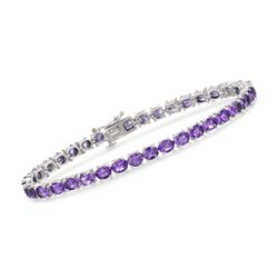 "12.00 ct. t.w. Amethyst Tennis Bracelet in Sterling Silver. 7.25"", , default"