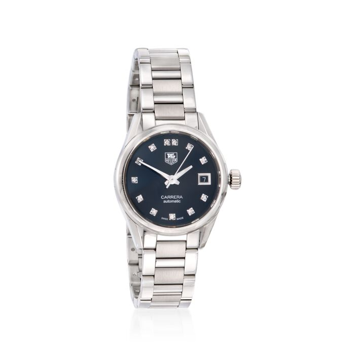 TAG Heuer Carrera Women's 28mm Stainless Steel Watch with .10 ct. t.w. Diamonds , , default