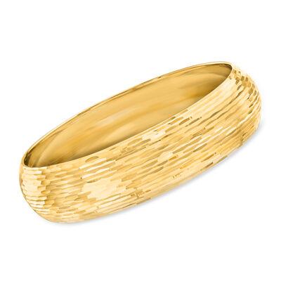 Gold Bracelets. Image featuring Italian 14kt Yellow Gold Bangle Bracelet 921935