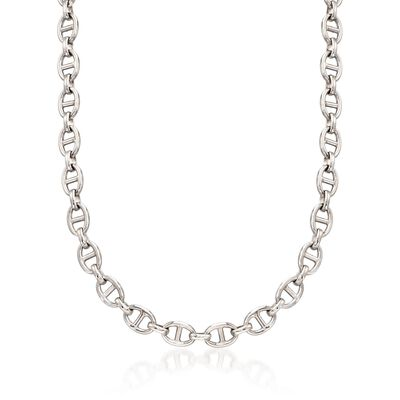 Italian Sterling Silver Marine-Link Necklace, , default