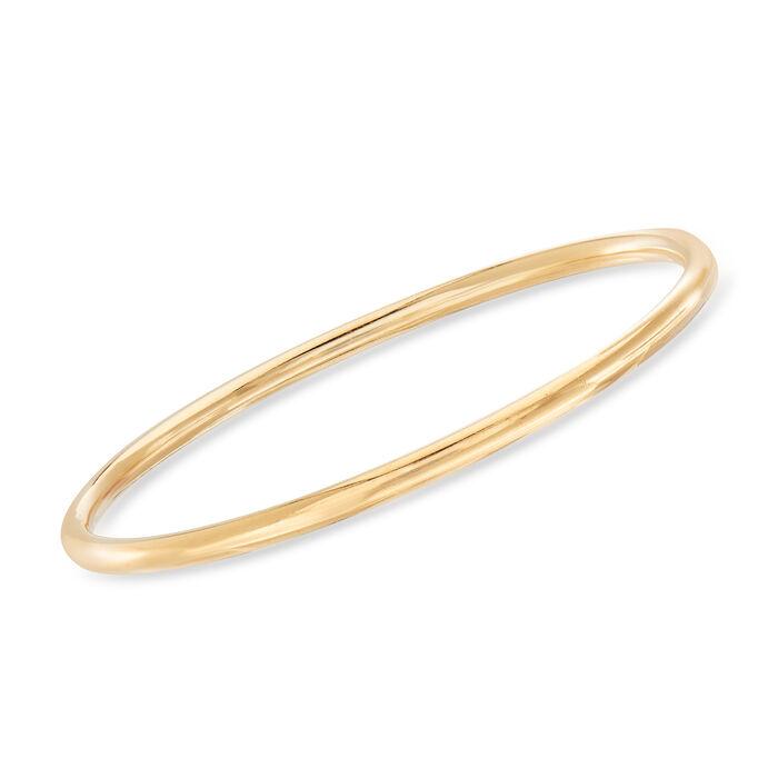 "C. 1990 Vintage Tiffany Jewelry 14kt Yellow Gold Bangle Bracelet. 7.5"", , default"