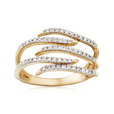 .25 ct. t.w. Diamond Bypass Ring in 14kt Yellow Gold, , default