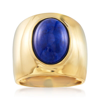 Italian Oval Lapis Ring in 18kt Gold Over Sterling, , default