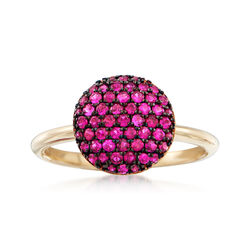 .50 ct. t.w. Ruby Circle Cluster Ring in 14kt Yellow Gold, , default