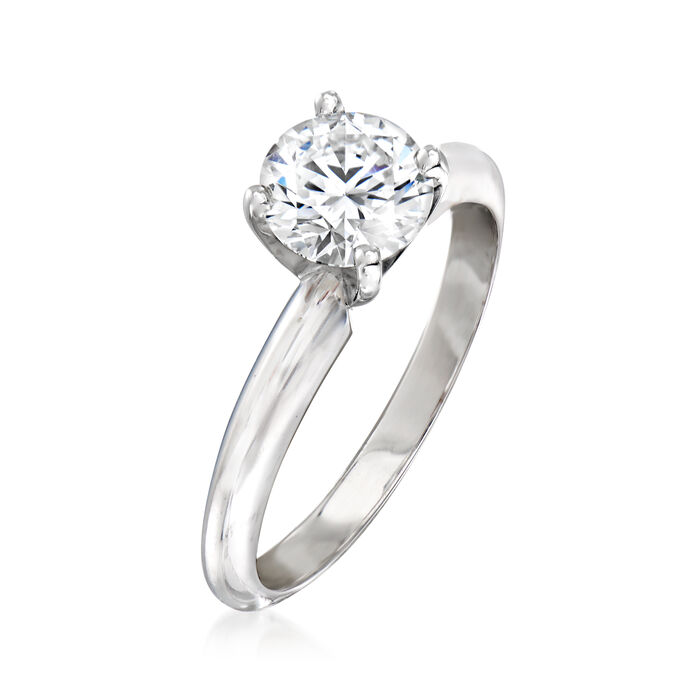 .75 Carat Certified Diamond Solitaire Ring in 14kt White Gold