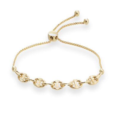 14kt Yellow Gold Mariner Link Bolo Bracelet, , default