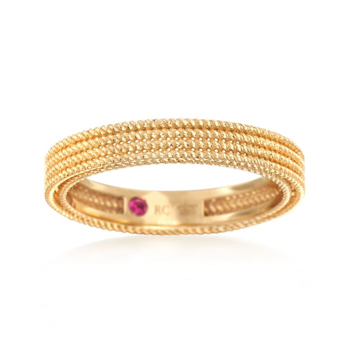 """Roberto Coin """"Symphony"""" Barocco Ring in 18kt Yellow Gold. Size 7, , default"""
