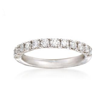 Henri Daussi .60 ct. t.w. Diamond Wedding Ring in 18kt White Gold, , default