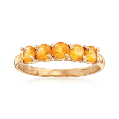 C. 1990 Vintage .75 ct. t.w. Citrine Ring in 14kt Yellow Gold, , default