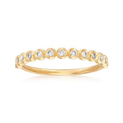 Henri Daussi .21 ct. t.w. Diamond Wedding Ring in 18kt Yellow Gold, , default