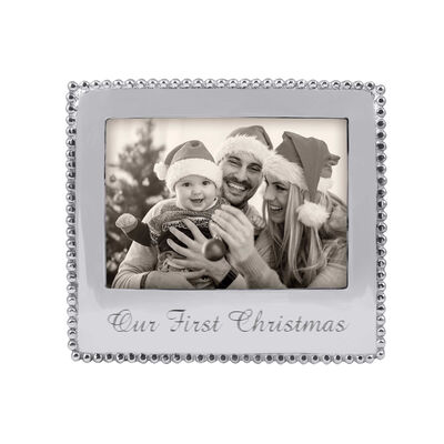 "Mariposa ""Traditions""  Our First Christmas Beaded 5x7 Frame"
