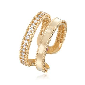 "Roberto Coin ""Symphony Princess"" .30 ct. t.w. Diamond Double Row Ring. Size 7"
