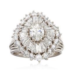 C. 1970 Vintage 3.27 ct. t.w. Diamond Ring in Platinum, , default