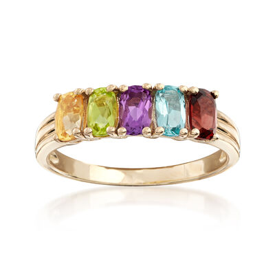 1.30 ct. t.w. Multi-Stone Ring in 14kt Yellow Gold, , default