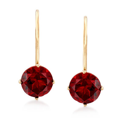 2.00 ct. t.w. Garnet Earrings in 14kt Yellow Gold , , default