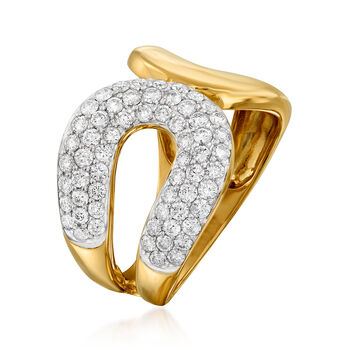 1.00 ct. t.w. Diamond Open-Circle Ring in 14kt Yellow Gold