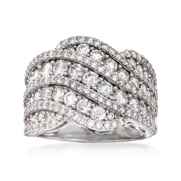 3.00 ct. t.w. Diamond Wave Ring in 14kt White Gold