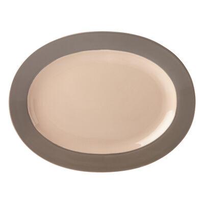 "Kate Spade New York ""Nolita"" Gray Oval Platter"
